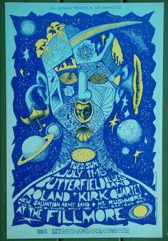 BG-72-Butterfield-Blues-Roland-Kirk-1967-Bonnie-MacLean-Fillmore-Poster-NM