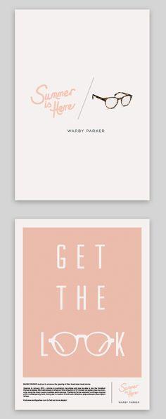 Warby Parker | Emily Jane Harris | #design #pink #black #white