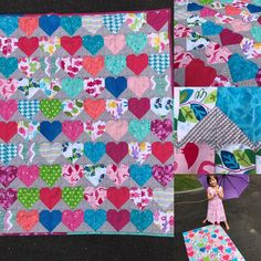 """42 Likes, 3 Comments - Tessa Anne (@tessa_anne_nz) on Instagram: """"THe last finish for the year I think... #babyshower #heartquilt #boxingday #quilt"""""""
