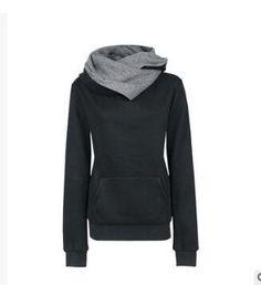 Gender: Women Item Type: Hoodies,Sweatshirts Clothing Length: Regular Brand Name: TOONIES Fabric Type: Broadcloth Hooded: Yes Collar: Turn-down Collar Sleeve Length: Full Pattern Type: Solid Sleeve St