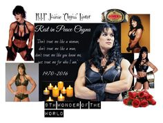 """R.I.P Joanie 'Chyna' Laurer"" by slash95 ❤ liked on Polyvore featuring art"