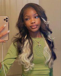 Baddie Hairstyles, Black Girls Hairstyles, Pretty Hairstyles, Teen Hairstyles, Weave Hairstyles, Black Girl Aesthetic, Aesthetic Hair, Aesthetic Outfit, Hair Inspo