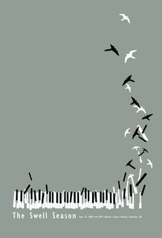 This design is a poster for a concert. It is simple and grayscale with flat illustrations. But it is creative and fun. The large amount of negative space is well planned. It looks like it was a fun poster to design.