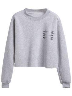 Grey Arrow Print Sweatshirt