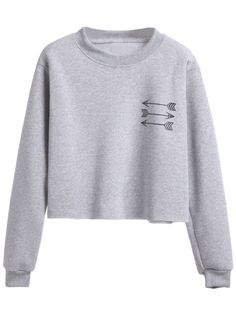 Grey Arrow Print Sweatshirt