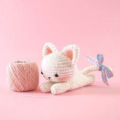 Amigurumi crochet cat PATTERN ONLY English par BubblesAndBongo