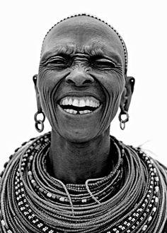 Samburua / 4 - Naguro Lepartingat from Scream London - human - people - face - portrait - black & white We Are The World, People Around The World, Smile Face, Make You Smile, Beautiful Smile, Beautiful People, Maasai People, Africa People, Many Faces