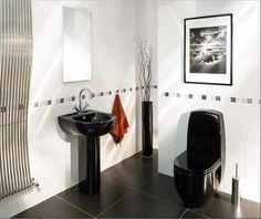 Bathroom Decorating Ideas Black And White Tile Bathroom Black And .. Part 43