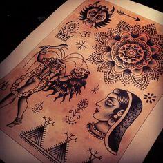 Sunday painting #indian #india #tattoo #tattoos #traditional #kali #lady #mehndi #mandala #geometric #mattchahal #swastika #om #hertfordshiretattoo