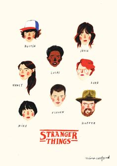 Stranger Things Cast | Nina Cosford Shop