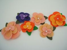 felt flowers using big shot
