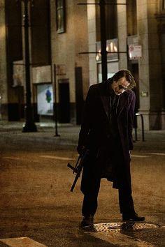 Heath Leger as the Joker. Epic.