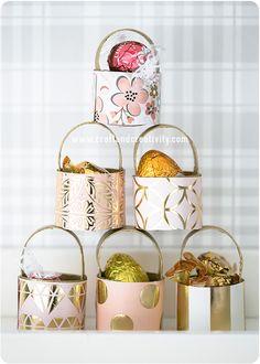 Toilet roll mini baskets - by Craft & Creativity