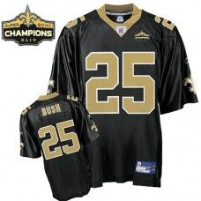 a3778eed88e Saints #25 Reggie Bush Black Super Bowl XLIV 44 Champions Stitched NFL  Jersey