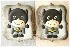 Chibi Batman Cookies made by Cookies Art by Shirlyn