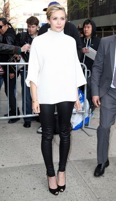 Look of the Day, April 28th: Elizabeth Olsen's Structured Top