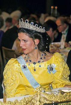 Queen Silvia wore this tiara for the 1985 Nobel Prize Ceremony and Dinner.