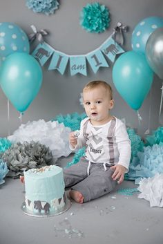 I AM ONE birthday banner / I am one highchair by SweetGeorgiaSweet