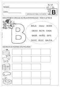 Dani Educar : Atividades letra B