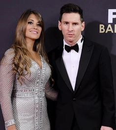 """sashapique: """" """"Lionel Messi of Argentina and FC Barcelona and his partner Antonella Roccuzzo attend the FIFA Ballon d'Or Gala 2015 at the Kongresshaus on January 11, 2016 in Zurich, Switzerland. """" """""""