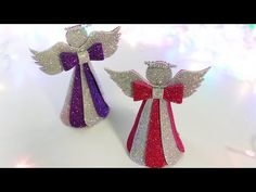 😇Рождественский АНГЕЛ из фоамирана 🎄DIY Christmas Decorations Angel 🎄Новогодний декор - YouTube