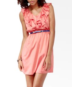 Ruffle Trimmed Blouson Dress | FOREVER21 - 2030186742 Now: $15.00
