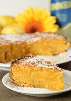Grain-free Italian Lemon Cake (Torta Caprese Bianca) - made with almond flour and full of lemony goodness!