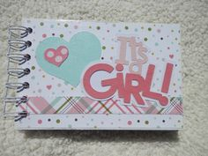 Hey, I found this really awesome Etsy listing at https://www.etsy.com/listing/242716194/4x6-baby-girl-chipboard-mini-scrapbook