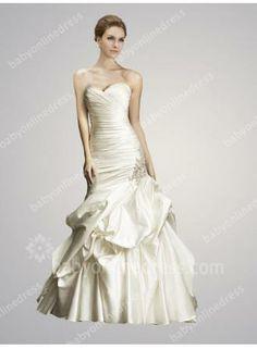 2017 Mermaid Wedding Dresses Sweetheart Sleeveless Beading Ruffles Lace Up Luxury Sweep Train Bridal Gowns