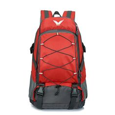 Sfeibo Molle Backpack Military Hiking Daypack Trekking Rucksack Travel Bag Red -- To view further for this item, visit the image link.(This is an Amazon affiliate link and I receive a commission for the sales)