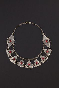 Turkestan   Silver and carnelian necklace   First half 1900s