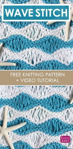 How To Knit The Sea Foam Wave Drop Knit Stitch Pattern Knit Scarf