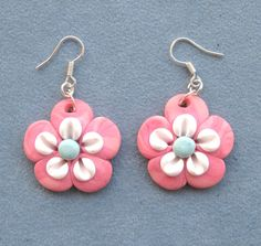 Earrings Polymer Clay Unique handmade  Fimo by BoutiqueShopJewelry, $8.00