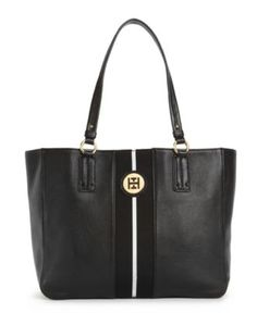 for work. Tommy Hilfiger Handbag, Pebble Leather Logo Tote - Tote Bags - Handbags & Accessories - Macy's
