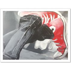 Check out this awesome 'red+shoes' design on Canvas Prints, Art Prints, Shoe Art, Converse All Star, Red Shoes, Art Inspo, Shirt Designs, Fashion Accessories, Sneakers