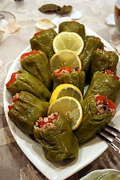 Turkish specialty Dolma - stuffed green pepper.. Mmmmm yummy yummy . My mum makes the best DOLMA ;)