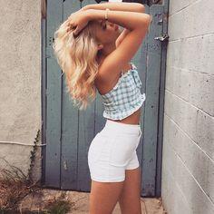 // ootd \\ crop top: @topshop shorts: @americanapparelusa