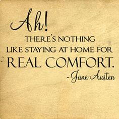 Real Comfort Jane Austen | Wall Decals - Trading Phrases