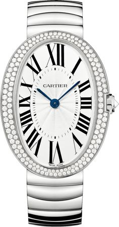 #Cartier #Baignoire Large Model White Gold #Watch