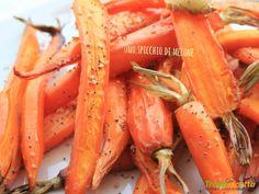CAROTE ARROSTITE AL FORNO con ZENZERO, SEMI di PAPAVERO e SESAMO  #ricette #food #recipes