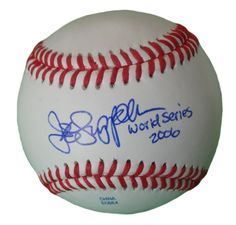 St. Louis Cardinals Jeff Suppan signed Rawlings ROLB leather baseball w/ proof photo.  Proof photo of Jeff signing will be included with your purchase along with a COA issued from Southwestconnection-Memorabilia, guaranteeing the item to pass authentication services from PSA/DNA or JSA. Free USPS shipping. www.AutographedwithProof.com is your one stop for autographed collectibles from Saint Louis Sports teams. Check back with us often, as we are always obtaining new items.