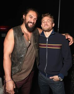 """Jason Momoa and Charlie Hunnam at CinemaCon 2017 Warner Bros. Pictures Invites You to """"The Big Picture"""", an Exclusive Presentation of our Upcoming Slate at The Colosseum at Caesars Palace during CinemaCon, the official convention of the National Association of Theatre Owners, on March 29, 2017 in Las Vegas, Nevada 285563"""
