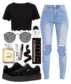 """""""Untitled #716"""" by justinbieber-zaikara ❤ liked on Polyvore featuring Ted Baker, Puma, Ray-Ban and Charlotte Russe"""