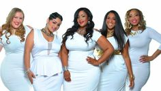 """stylishcurvesoftheday: """" Exclusive Chic and Curvy Boutique spring summer look book Stylish Curves """" Curvy Girl Fashion, Diva Fashion, Plus Size Fashion, Fashion Looks, White Fashion, Plus Size Dresses, Plus Size Outfits, All White Party Outfits, Plus Zise"""