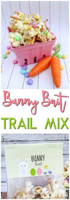 Bunny Bait Trail Mix #bunny #bunnymix #bunnybait #trailmix #eastertreats #eastertrailmix