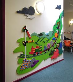 https://flic.kr/p/wY4ARL | Tactile Mural at Even Swindon Primary School | Mike Ayres Design has designed, manufactured and installed this wonderful tactile mural for the Speech and Language Centre at Even Swindon School. Featuring the train and signal box from the schools logo. A lovely piece of art that students can interact with.
