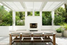 Outdoor Living Rooms, Outdoor Spaces, Porches, Outdoor Fireplace Designs, Outside Room, Outdoor Pergola, Pergola Kits, Gazebo, Outdoor Garden Furniture