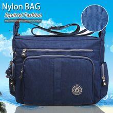 Ardilla moda Nylon impermeable solid patchwork de las mujeres bolsa de mensajero portátil ultraligero mochilas bolsa de viaje ocasional(China (Mainland))