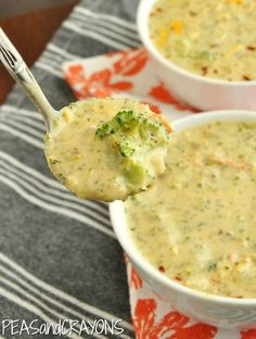 Panera Copycat Broccoli and Cheese Soup -- so good! No cream of anything in this one