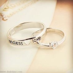 I love, love these wedding bands.
